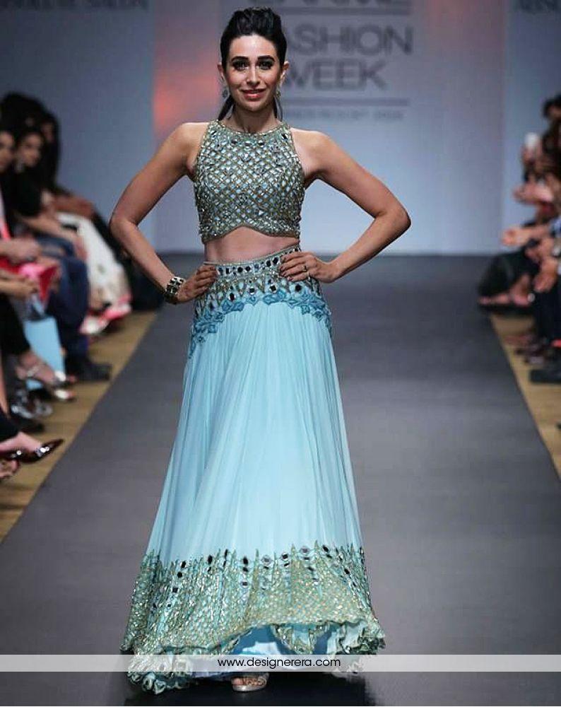 DE Grand Sky Blue Designer Lehenga with Zari work   Bollywood ...