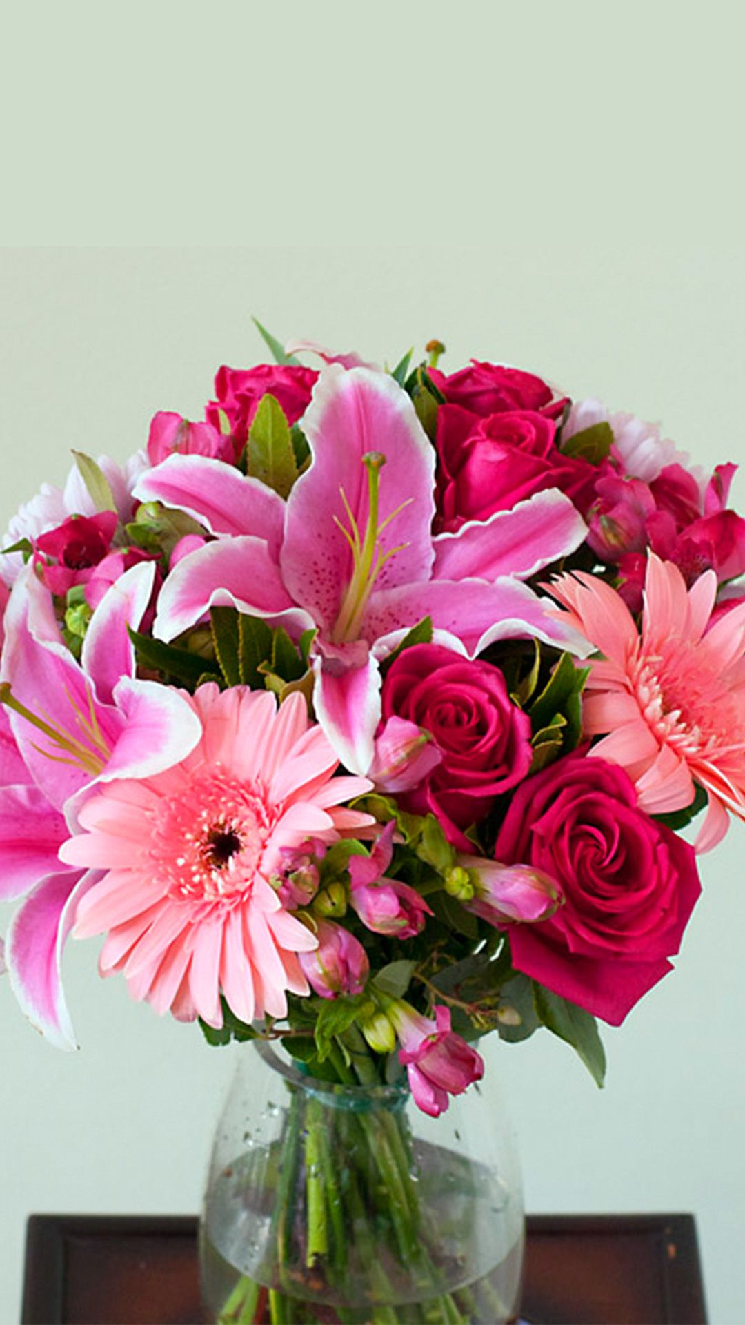 Girly Seasonal Bouquet In Fuchsia Shades For All The Girls Of Your Life Lillies Alstroemerias Roses Chrysanthe Fuchsia Flowers Flowers Online Flower Shop