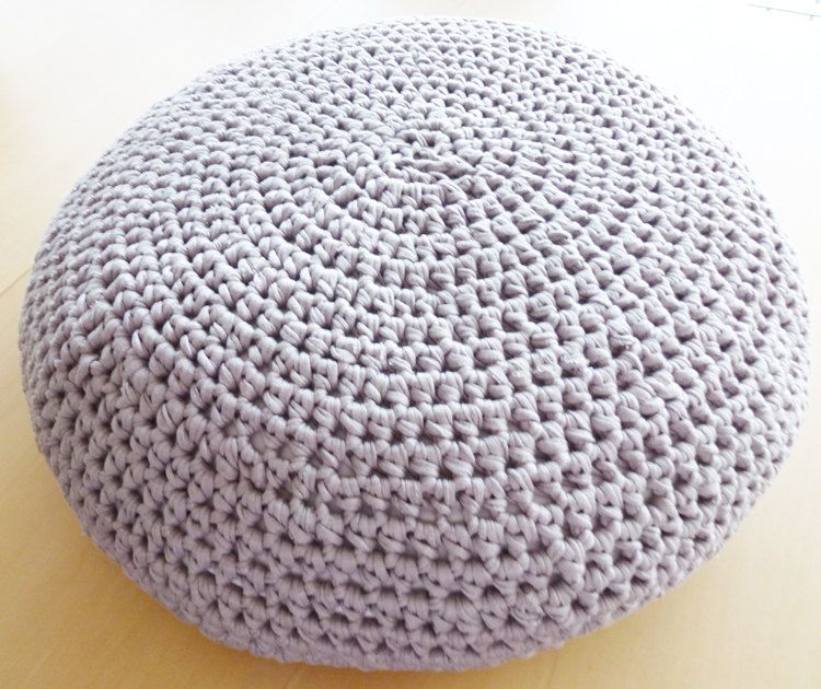 Crochet Pouf Ottoman Floor Cushion PDF pattern - English and Dutch ...