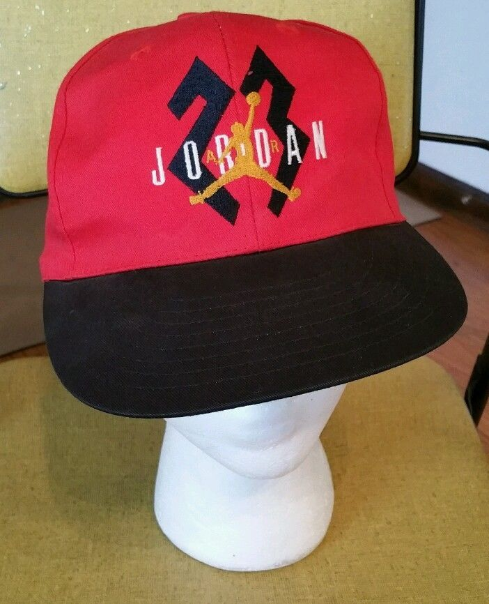 new concept 70cdd 0e3cb Nike Air Jordan 23 Red Black Snapback Hat Cap vintage Michael Chicago Bulls  sewn  Nike  ChicagoBulls