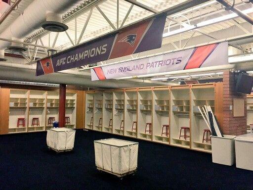New England Patriots Locker Room Super Bowl XLIX