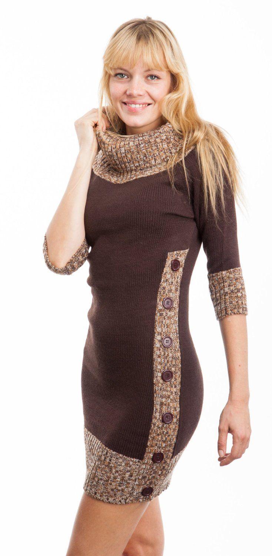 brown sweater dress womens