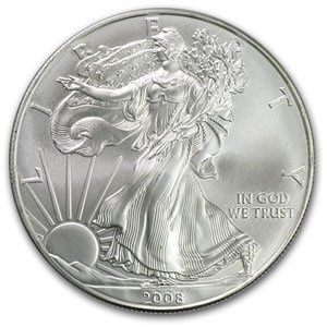 2008 1 Oz Silver American Eagle Coin With Images Coins Eagle Coin Silver Bullion Coins