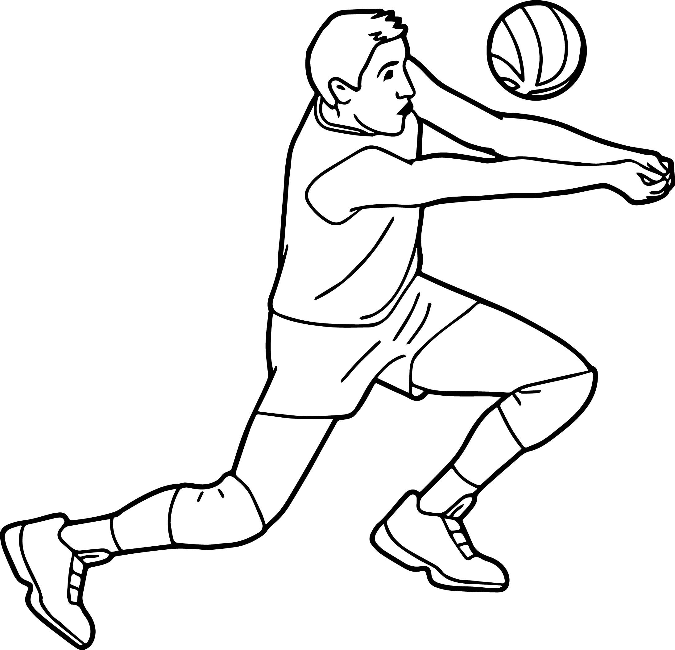 cool Free Sports Volleyball Pictures Graphics Coloring ...