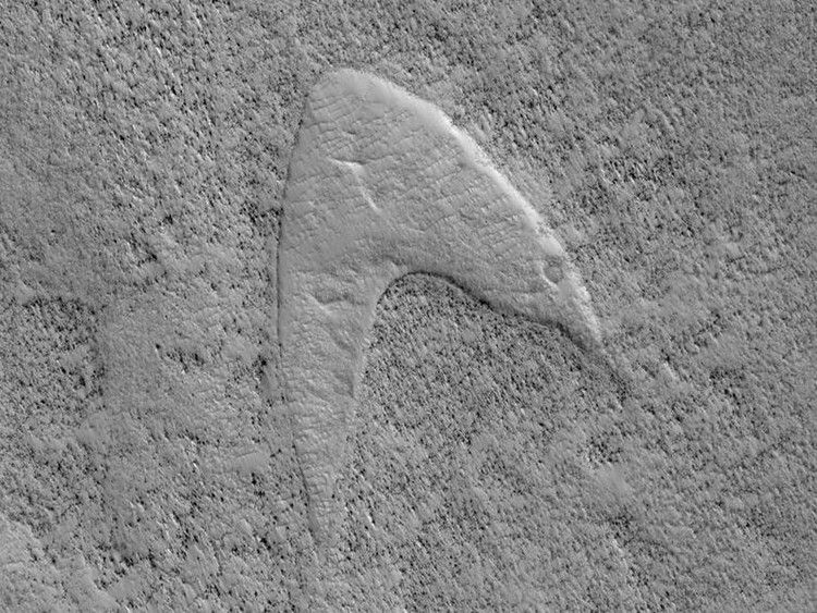 Star Trek on Mars NASA spots Starfleet logo in dune