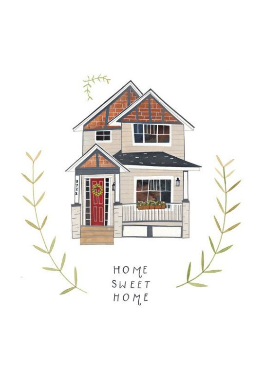 Home Sweet Home Pinterest Cleohaa ૐ House Illustration