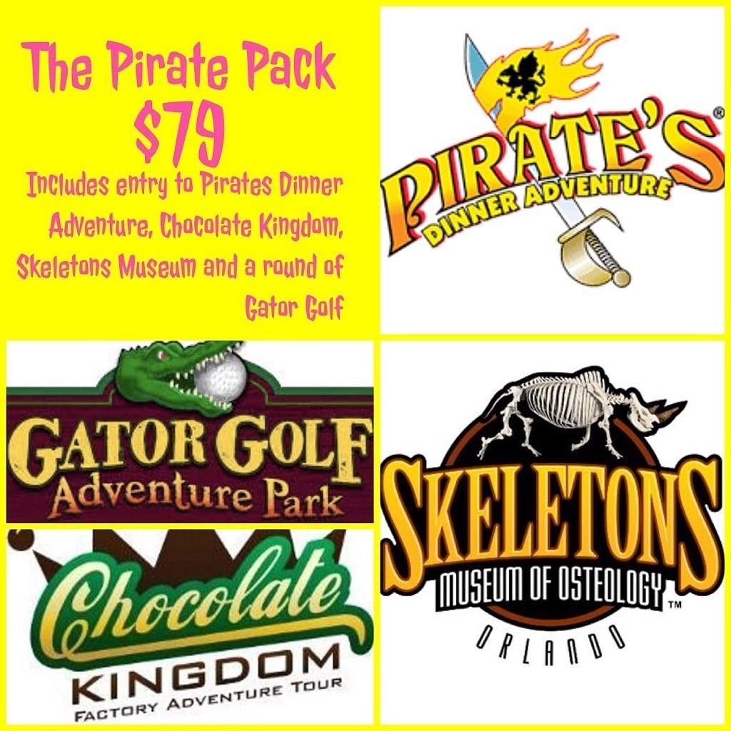 Pirate Dinner Show Skeletons Gator Golf Chocolate Kingdom