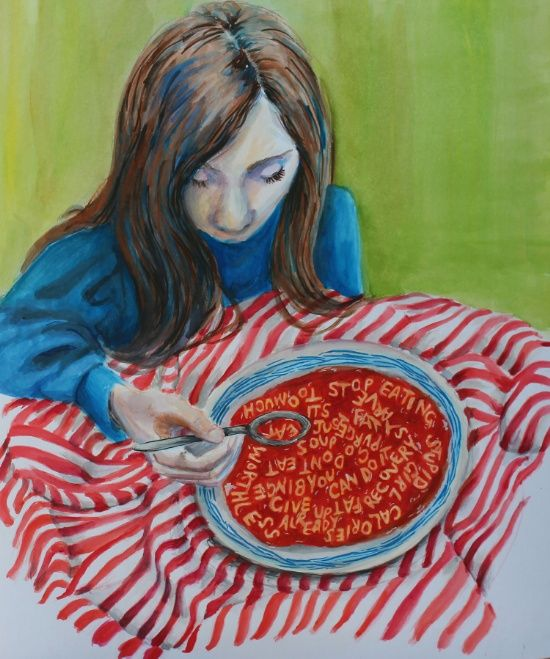 Using Art to Heal from Anorexia // Tigress Mag for Girls // Health and Body