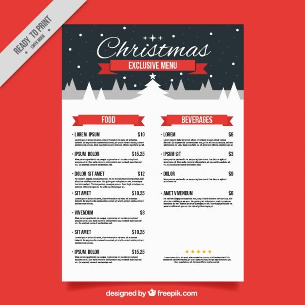 Image result for christmas menu design Christmas Pinterest - dinner menu templates free
