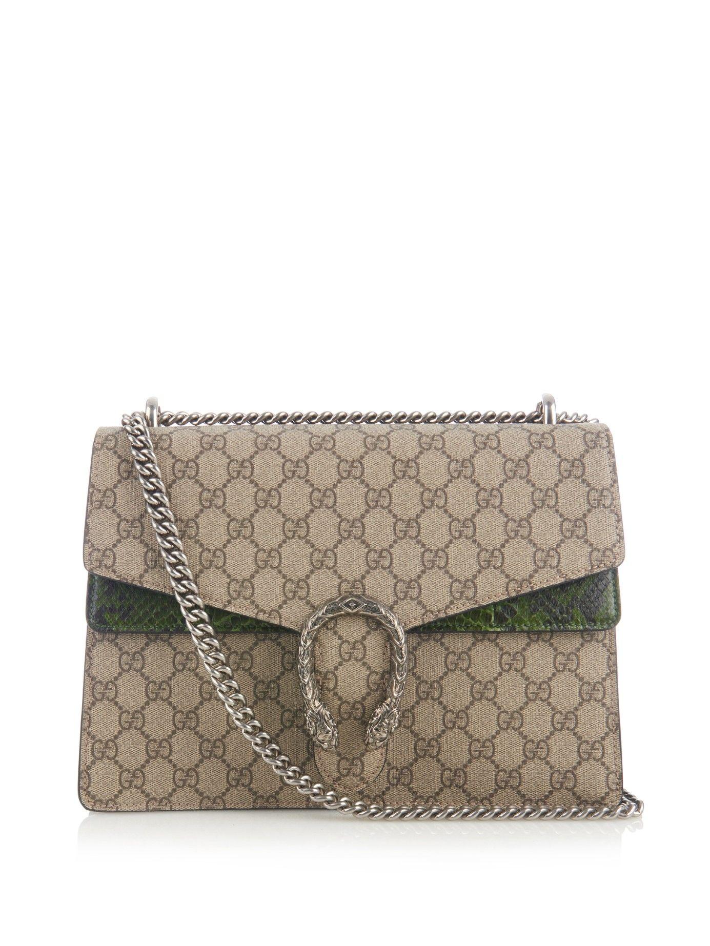 a8630d087ad Dionysus GG Supreme canvas shoulder bag