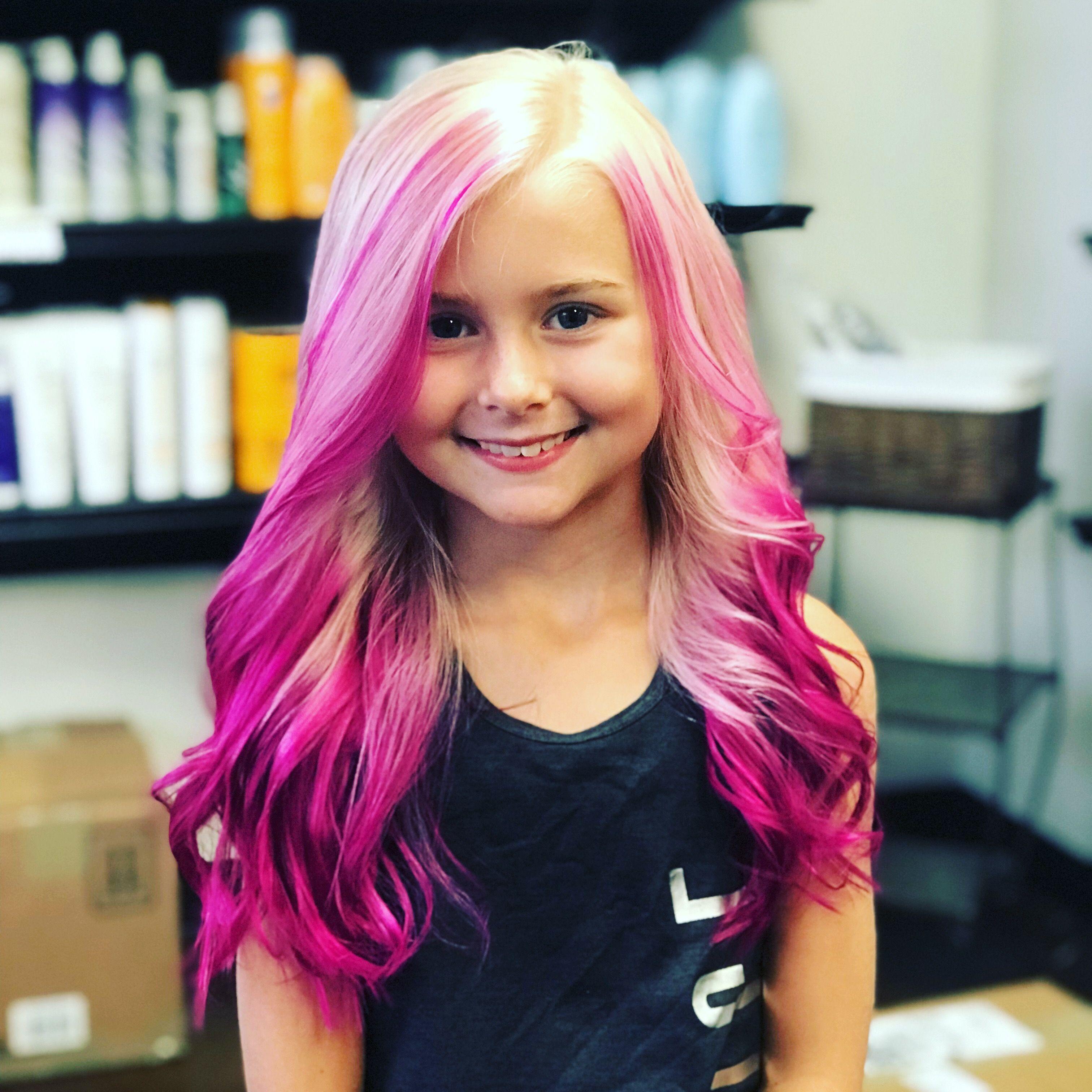 Pink Hair Girl Hair Colors Kids Hair Color Pink Hair Streaks