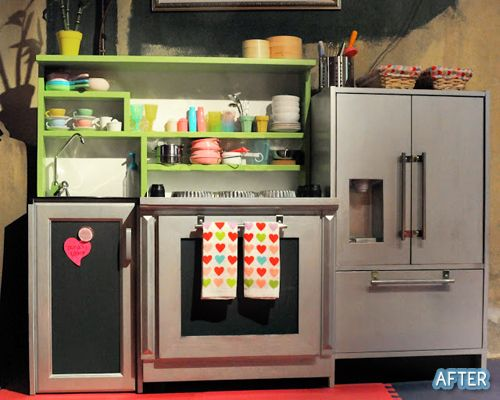 They Took Three Different Old Furniture Pieces And Put Them Together To  Make This Amazing Kiddie. Diy Play KitchenKid ...