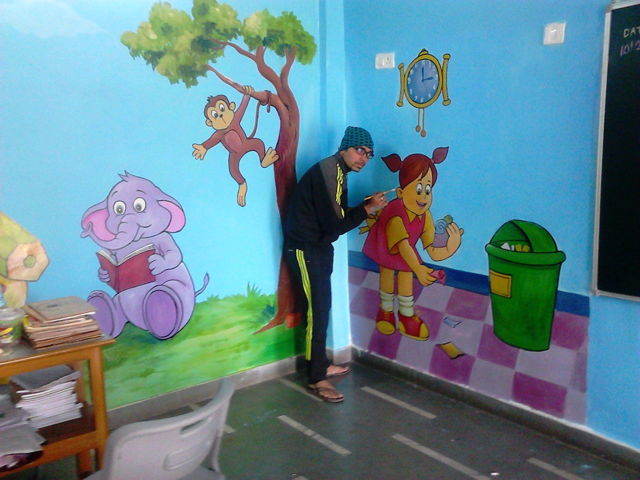Kids School Class Room Contact 09835508353 Painting Artist