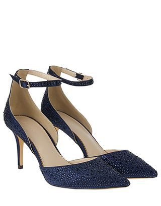 Dijana Diamante Sparkle Court Shoes Moon And Stars