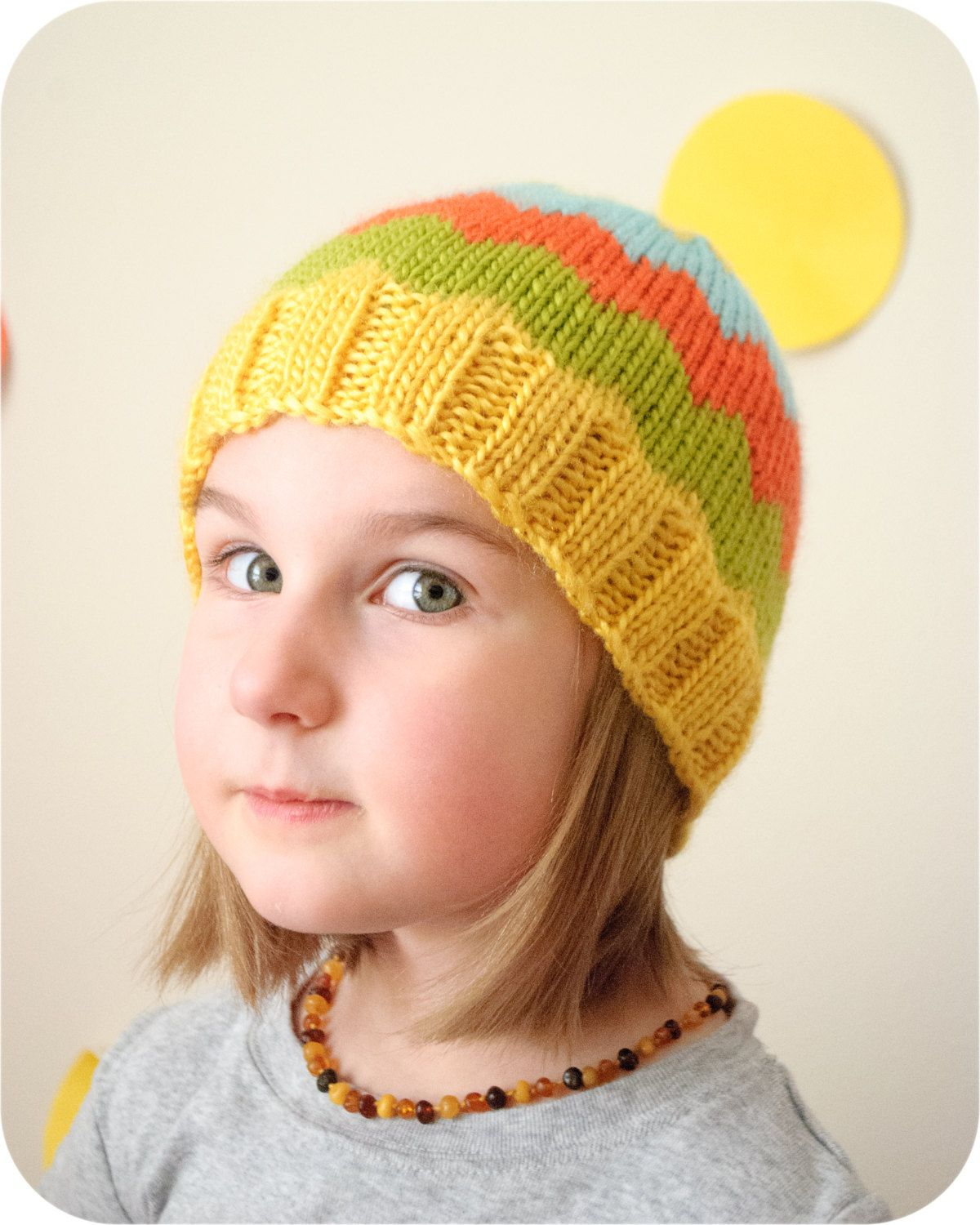 43ef8ee9987 The Citron Chevron Hat PDF Knitting Pattern by TheEliMonster on Etsy ...