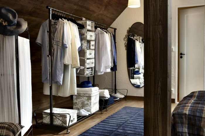 Create A Closet Anywhere You Have Extra Space With A Stand Alone Clothes Rack Like Portis
