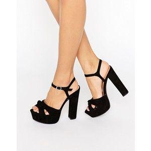 8ba24671a3b Truffle Collection Bow Platform Sandal