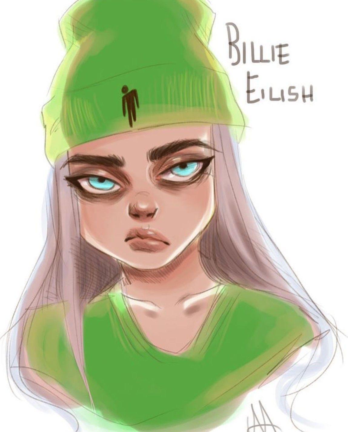 Billie Eilish Art With Images Billie Eilish Billie Cartoon