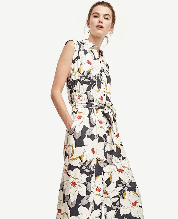 Hibiscus Belted Jumpsuit | Ann Taylor | Clothes to buy - retail ...