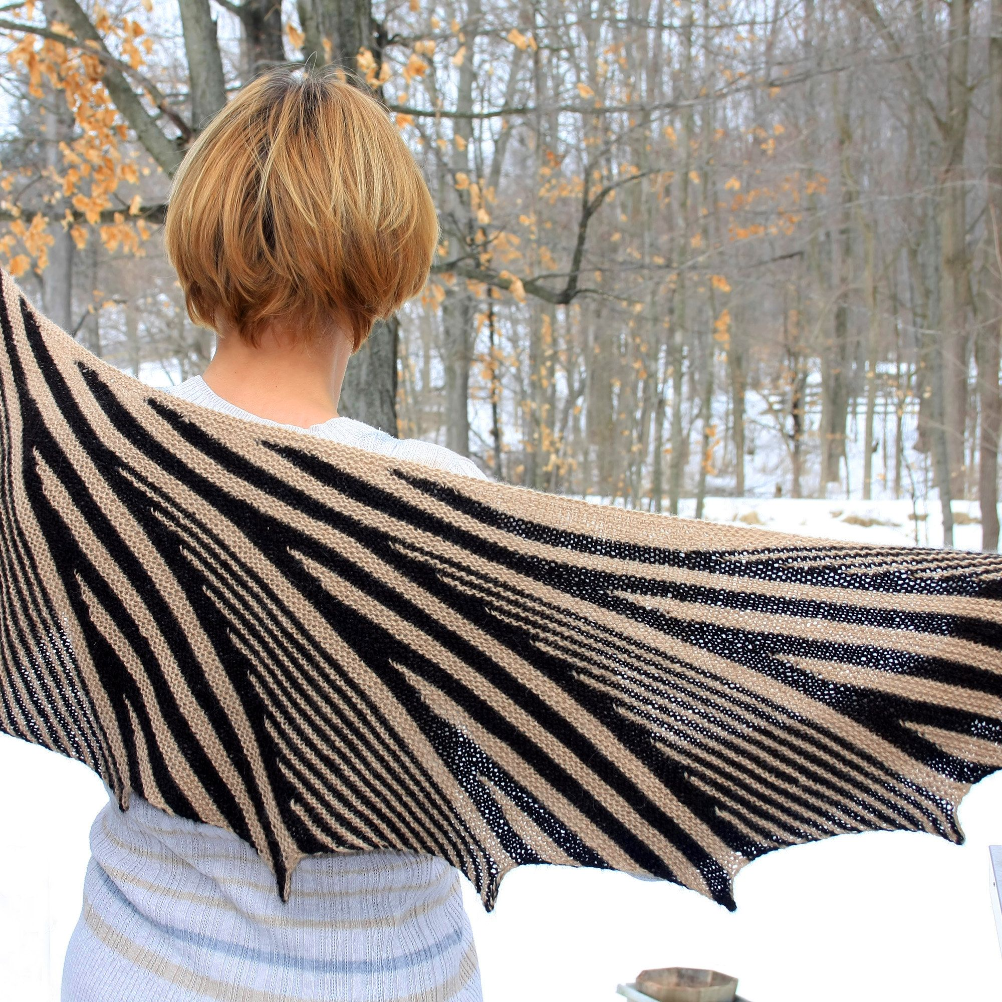 knitting pattern for Shawl Retro Deluxe