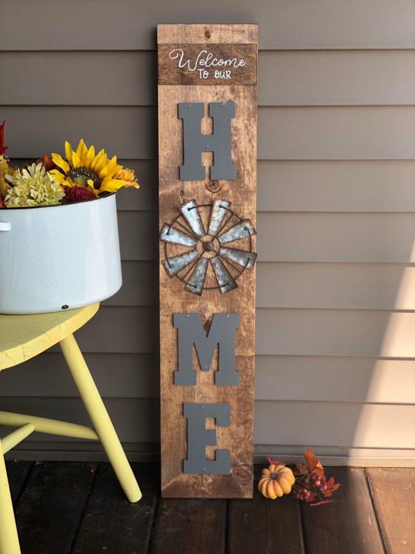 Farmhouse Home Sign 3' tall available for $50. #etsy #vintagebarn_nd #fabulousfarmhouse