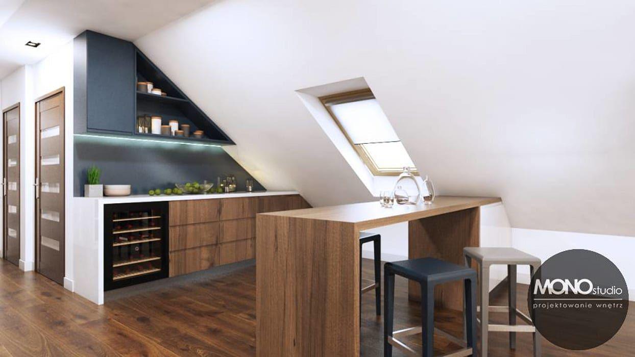 Biala Kuchnia Na Poddaszu Interior Design Kitchen Kitchen Interior Kitchen Design Small