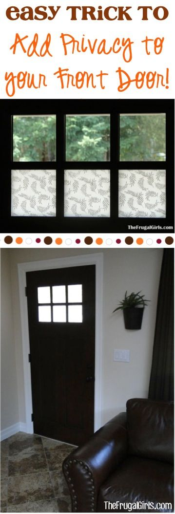 How To Add Privacy To The Front Door Of Your Home! This Easy Little DIY