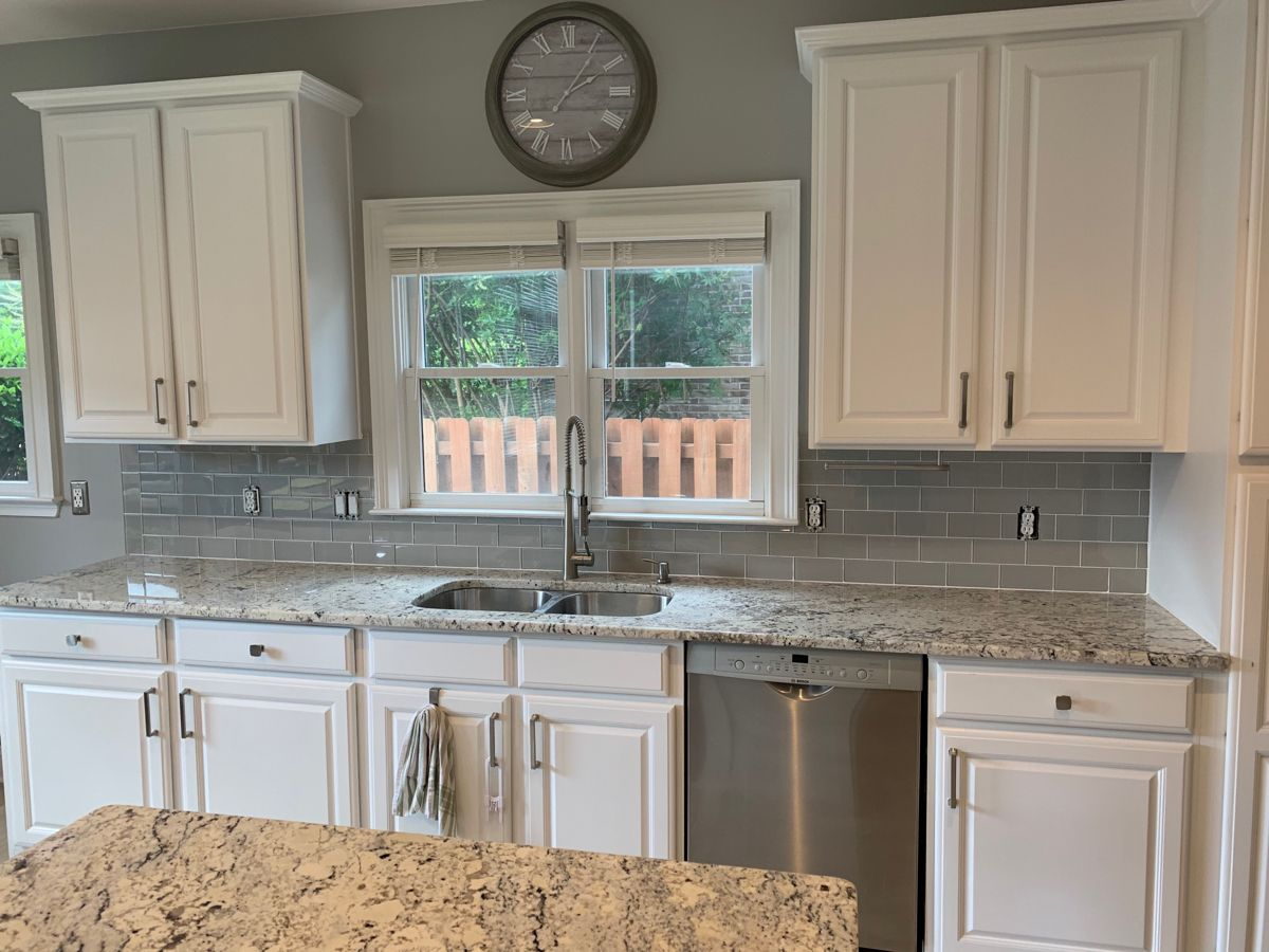 Interceramic Backsplash Kitchen Granite Countertops Countertops