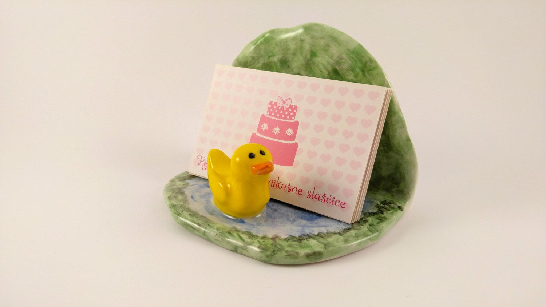 Ceramic Business Card Holder, Handmade Business card holder desk ...