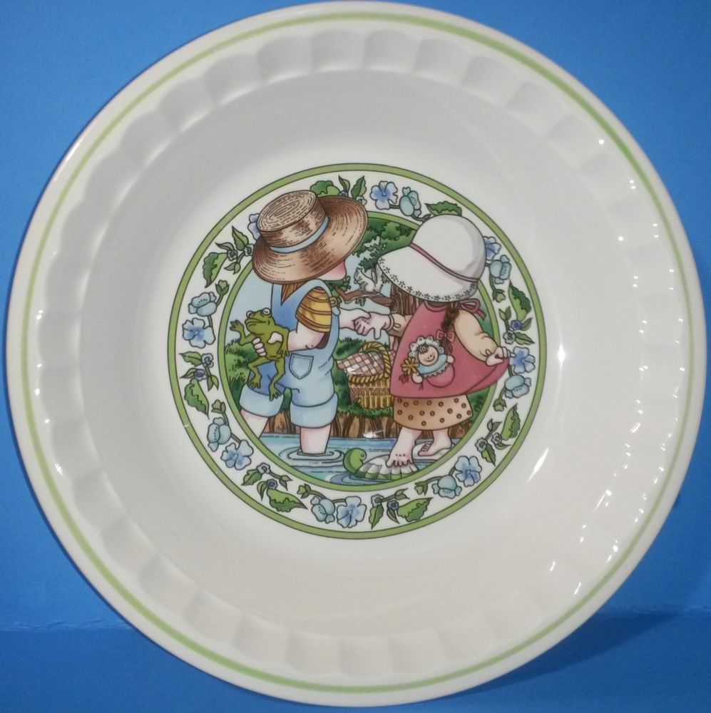 Vintage Watkins 10  Pie Plate Country Kids Collector Recipe Summertime Friends : 10 pie plate - pezcame.com