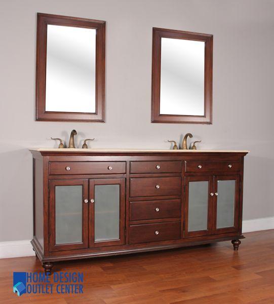 Hwm 203 C 72 New 72 Double Bathroom Vanity Cream Marble Home Design Outlet Center Double Vanity Bathroom Bathroom Vanity Vanity