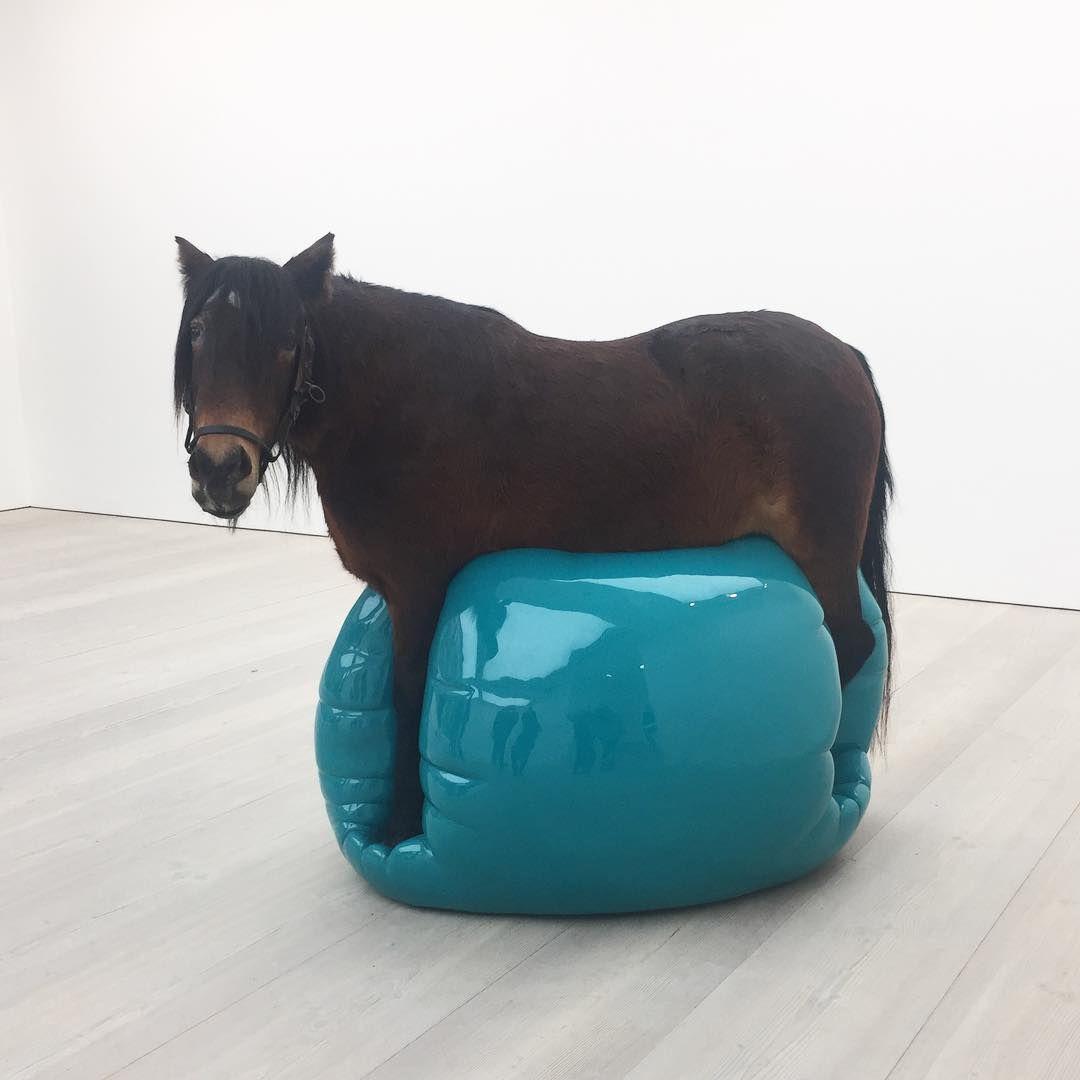 🐴Sorrowful pony on a yoga ball🔵 #sadpony #saatchiart #saatchigallery