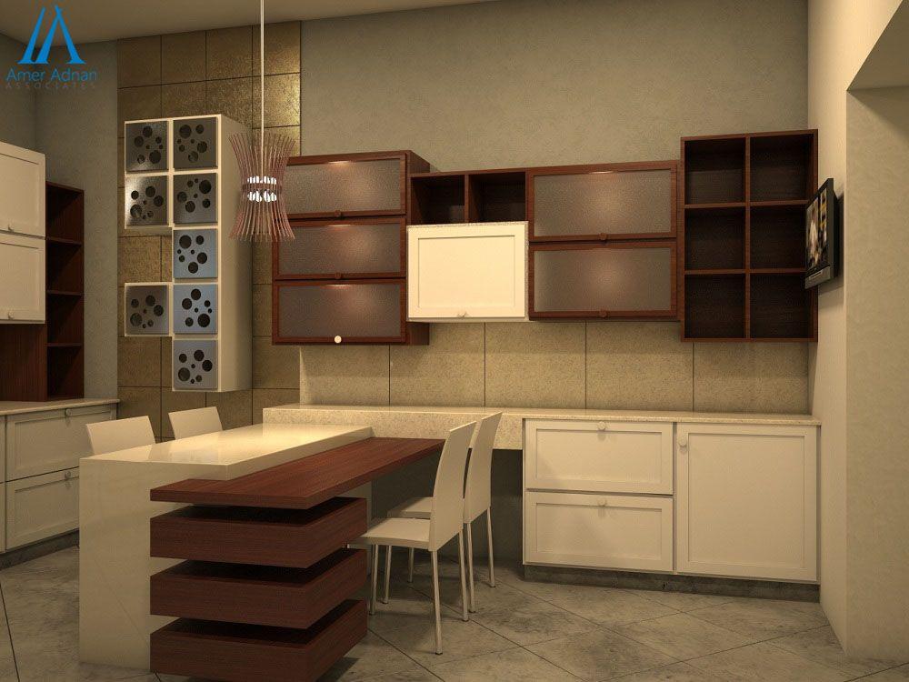 Modern 3D Kitchen Design Ideaamer Adnan Associates  Modern Beauteous 3D Design Kitchen Decorating Inspiration