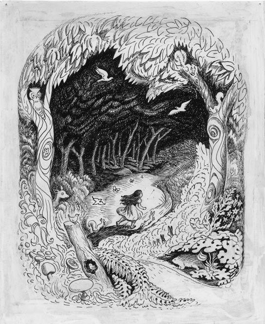 Wanda Gág's Snow White and the Seven Dwarfs illustration