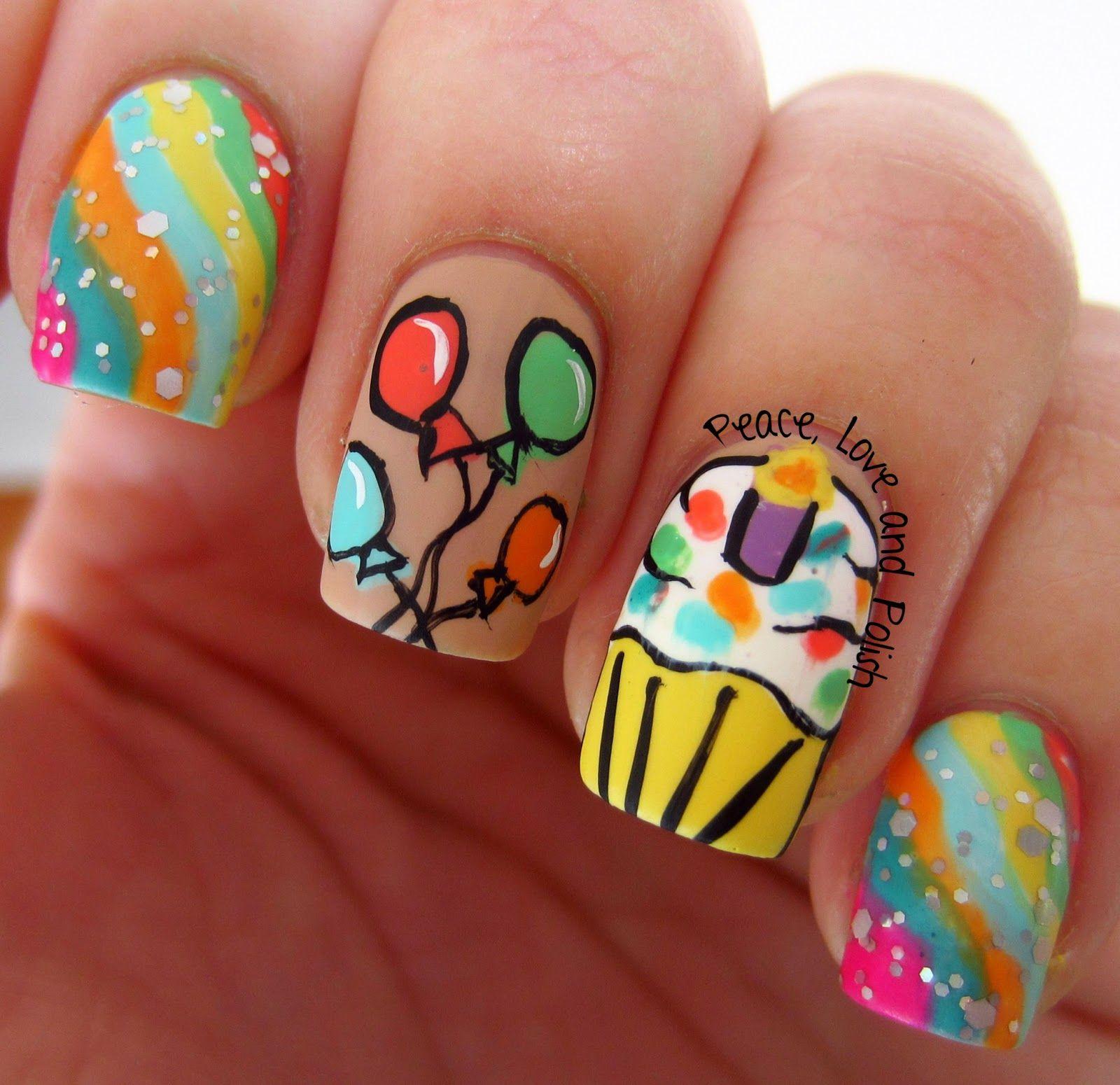 Pin By Jacquie On Nails Birthday Nail Art Birthday Nails Nail