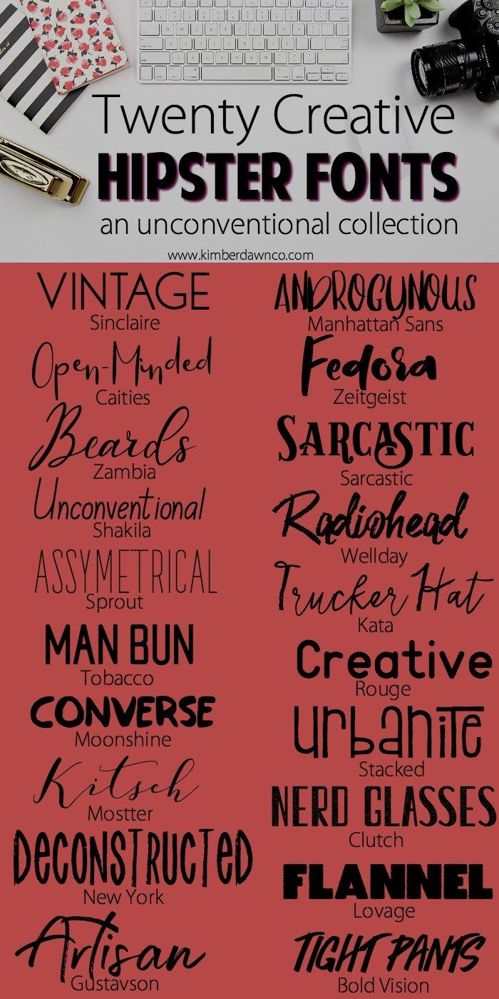 20 Hipster Fonts| www.kimberdawnco.com | Printables & Fonts ...