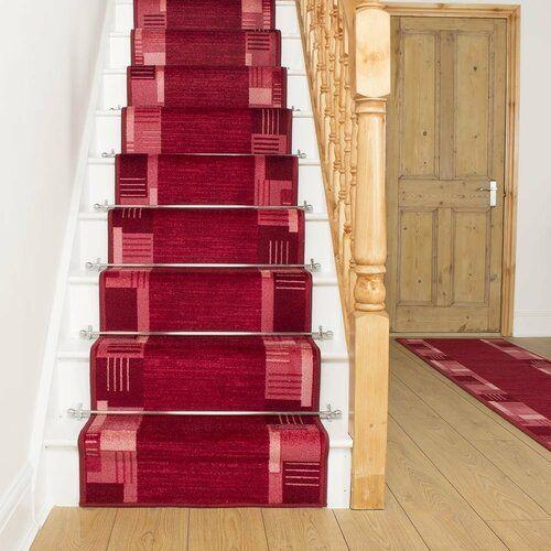 Best Alpena Twist Pile Red Red Stair Runner Rosalind Wheeler 400 x 300