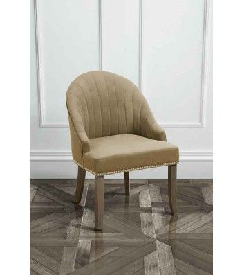 Kariss Latte Upholstered Occasional Chair