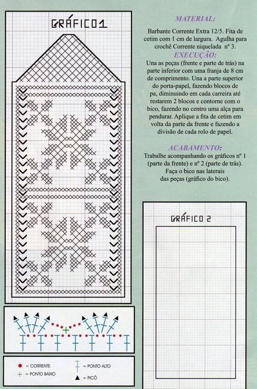 Resultado de imagen para porta papel higienico croche | colcha ...