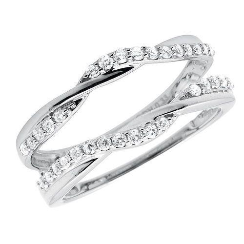 Details about 10k Gold 1/3 ct Solitaire Enhancer Diamonds Guard