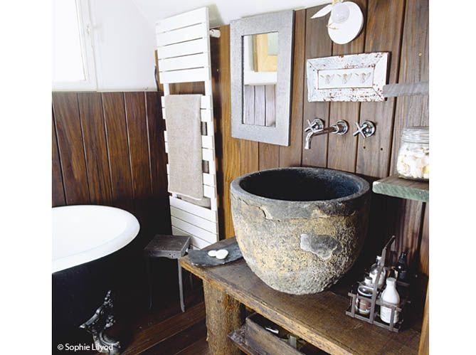 lambris evier style bord de mer salle de bains