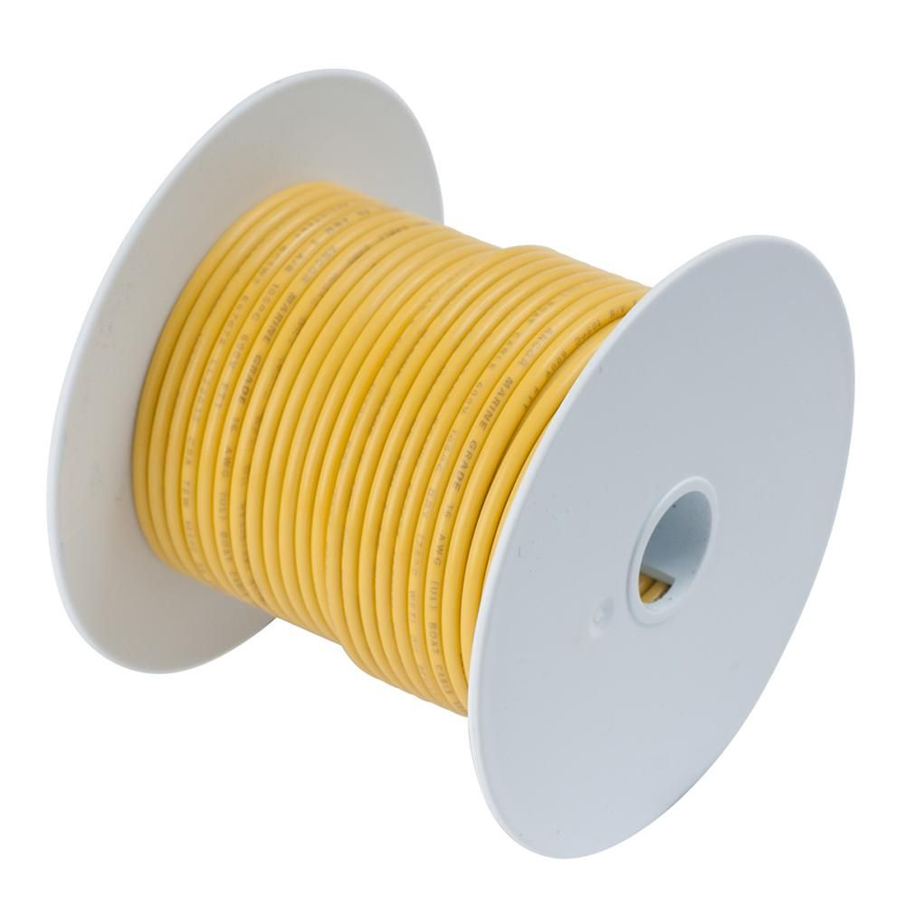 Ancor Yellow 8 Awg Tinned Copper Wire 250 111925 Products Boat Wiring Product