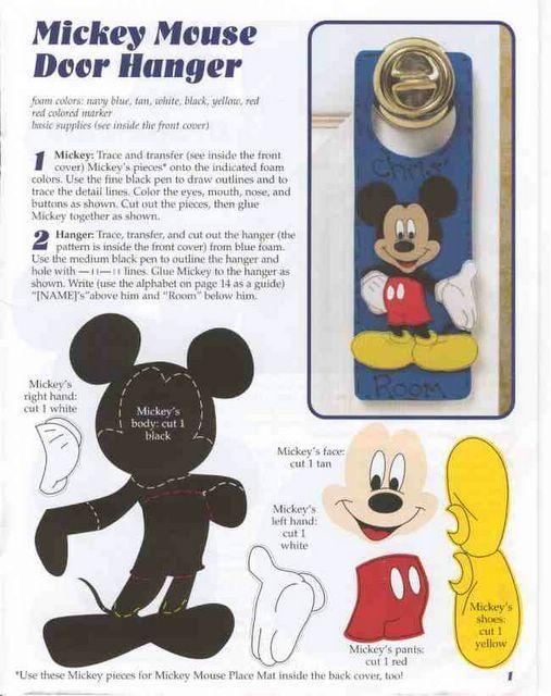Colgante de Picaporte de Mickey Ideas Pinterest Mickey mouse