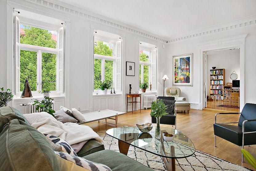 suelo de madera de roble estilo nórdico en piso elegante Detalles de