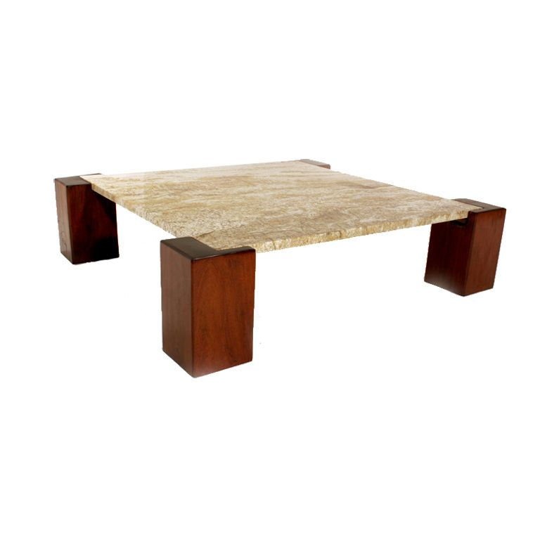 Solid Ipe And Granite Coffee Table From Brazil