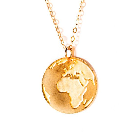 Gold Earth Pendant Filled And
