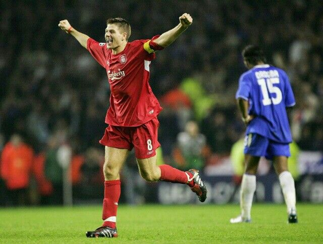 Gerrard celebrates 2005