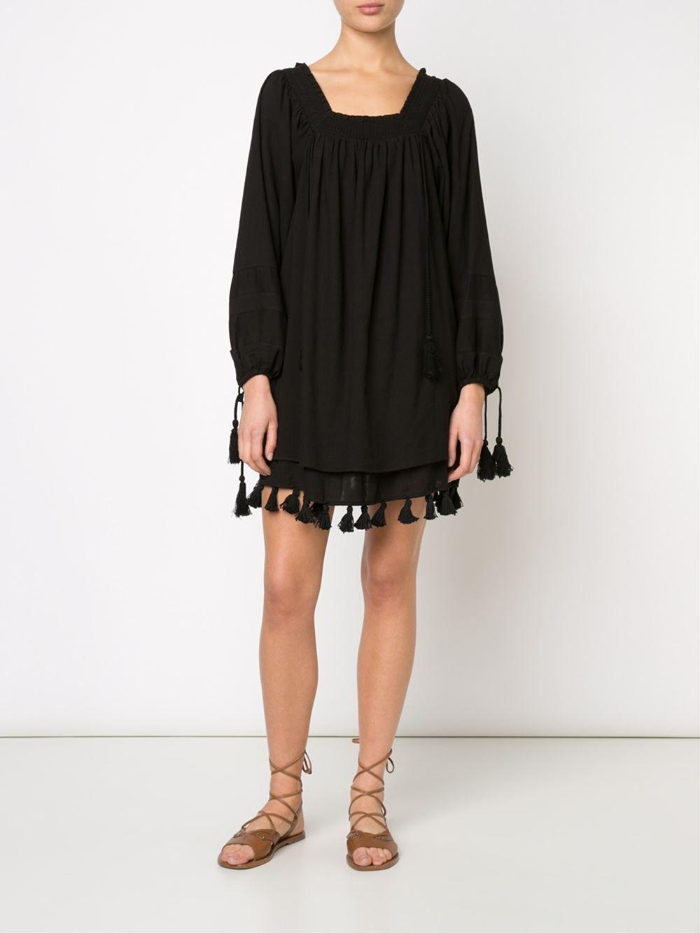 A Piece Apart tasseled tunic dress