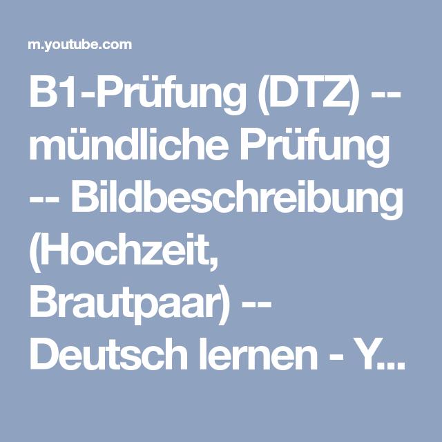 B1-Prüfung (DTZ) -- mündliche Prüfung -- Bildbeschreibung