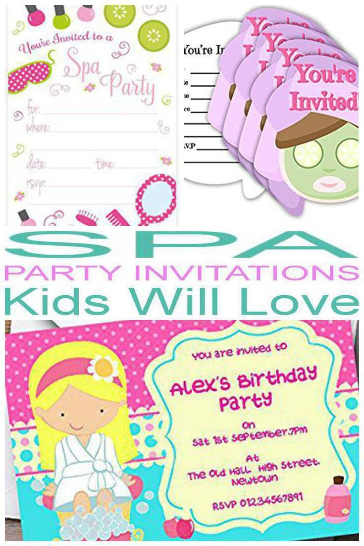 Top Spa Party Invitations Kids Will Love | Pinterest | Spa party ...